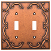 betsyfieldsdesign 2-Gang Sponged Copper Standard Toggle Metal Wall Plate
