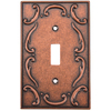 betsyfieldsdesign 1-Gang Sponged Copper Standard Toggle Metal Wall Plate