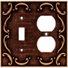 Brainerd 2-Gang Sponged Copper Standard Duplex Receptacle Metal Wall Plate