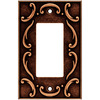 betsyfieldsdesign 1-Gang Sponged Copper Decorator Rocker Metal Wall Plate