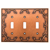 betsyfieldsdesign 3-Gang Sponged Copper Standard Toggle Metal Wall Plate