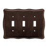 Brainerd 3-Gang Venetian Bronze Standard Toggle Metal Wall Plate