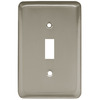 Brainerd 1-Gang Satin Nickel Standard Toggle Stainless Steel Wall Plate
