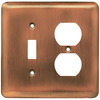 Brainerd 2-Gang Brushed Copper Standard Toggle Steel Wall Plate