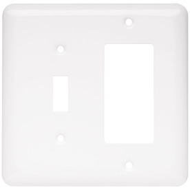 Brainerd 2-Gang White Decorator Stainless Steel Wall Plate