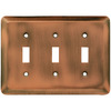 Brainerd 3-Gang Brushed Copper Standard Toggle Steel Wall Plate