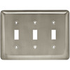 Style Selections 3-Gang Satin Nickel Standard Toggle Steel Wall Plate