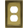 betsyfieldsdesign 1-Gang Antique Brass Standard Duplex Receptacle Metal Wall Plate
