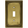 betsyfieldsdesign 1-Gang Antique Brass Standard Toggle Metal Wall Plate
