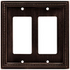 betsyfieldsdesign 2-Gang Venetian Bronze Decorator Rocker Metal Wall Plate