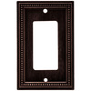 Brainerd 1-Gang Venetian Bronze Decorator Rocker Metal Wall Plate