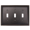 betsyfieldsdesign Beaded 3-Gang Venetian Bronze Triple Toggle Wall Plate