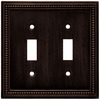 Brainerd 2-Gang Venetian Bronze Toggle Metal Wall Plate