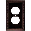 Brainerd Beaded 1-Gang Venetian Bronze Single Duplex Wall Plate