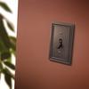 Brainerd 1-Gang Venetian Bronze Toggle Wall Plate