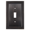 Brainerd Beaded 1-Gang Venetian Bronze Single Toggle Wall Plate