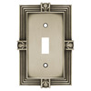 betsyfieldsdesign 1-Gang Brushed Satin Pewter Standard Toggle Metal Wall Plate