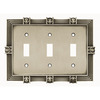 betsyfieldsdesign 3-Gang Brushed Satin Pewter Standard Toggle Metal Wall Plate
