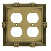 betsyfieldsdesign 2-Gang Tumbled Antique Brass Round Wall Plate