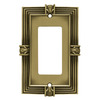betsyfieldsdesign 1-Gang Tumbled Antique Brass Decorator Rocker Metal Wall Plate