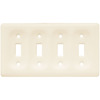 Brainerd 4-Gang Bisque Standard Toggle Ceramic Wall Plate