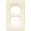 Brainerd 1-Gang Bisque Standard Duplex Receptacle Ceramic Wall Plate