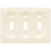 Brainerd 3-Gang Bisque Standard Toggle Ceramic Wall Plate