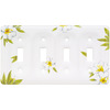 Brainerd 4-Gang Magnolia Standard Toggle Ceramic Wall Plate