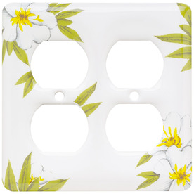 Brainerd 2-Gang Magnolia Round Wall Plate