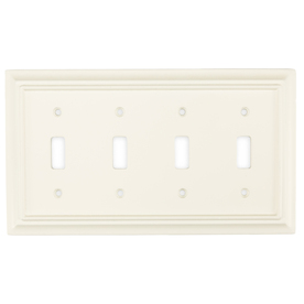 Brainerd 4-Gang Cream Toggle Wall Plate