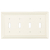 Brainerd 4-Gang Cream Standard Toggle Wood Wall Plate