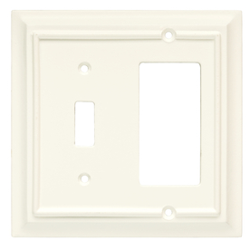 Brainerd 2-Gang Cream Combination Wood Wall Plate