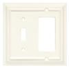 Brainerd 2-Gang White Combination Wood Wall Plate