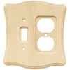 Brainerd 2-Gang Unfinished Birch Standard Toggle Wood Wall Plate