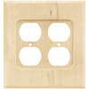 Brainerd 2-Gang Unfinished Birch Standard Duplex Receptacle Wood Wall Plate