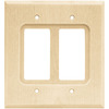 Brainerd Wood Square 2-Gang Light Wood Double Decorator Wall Plate
