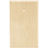 Brainerd 1-Gang Unfinished Birch Blank Wood Wall Plate