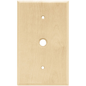 Brainerd Wood Square 1-Gang Light Wood Single Wall Plate