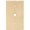 Brainerd 1-Gang Unfinished Birch Coax Wood Wall Plate