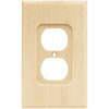 Brainerd Wood Square 1-Gang Light Wood Single Duplex Wall Plate