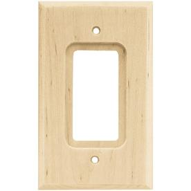 Brainerd 1-Gang Unfinished Birch Toggle Wall Plate