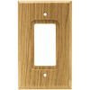 Brainerd 1-Gang Medium Oak Decorator Rocker Wood Wall Plate