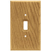 Brainerd 1-Gang Medium Oak Standard Toggle Wood Wall Plate