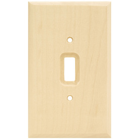 Brainerd Wood Square 1-Gang Light Wood Single Toggle Wall Plate