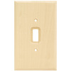 Brainerd 1-Gang Unfinished Birch Standard Toggle Wood Wall Plate
