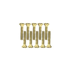 Brainerd 10-Pack #6 to 32 x 0.75-in Brass Wall Plate Screws