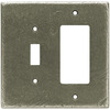 betsyfieldsdesign 2-Gang Brushed Satin Pewter Decorator Metal Wall Plate
