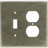 betsyfieldsdesign 2-Gang Brushed Satin Pewter Round Wall Plate