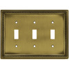 betsyfieldsdesign 3-Gang Antique Brass Standard Toggle Metal Wall Plate