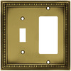 betsyfieldsdesign 2-Gang Antique Brass Decorator Metal Wall Plate
